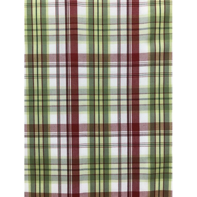 deko stoffe gardine vorhang landhaus karo rot gr n blickdicht meterw 21 95. Black Bedroom Furniture Sets. Home Design Ideas