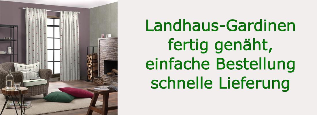 Landhaus Fertiggardine Küchen-Gardine Fenstergardine Erdbeere Muster 400//160